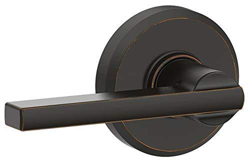 Schlage F170-LAT-GSN Latitude Single Dummy Door Lever with Decorative Greyson Tr, Aged Bronze