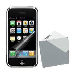 Crystal Scratch Resistant Screen Guard Protector LCD Shield With Lint Cleaning Cloth for Apple Iphone PDA Manufactured By ()