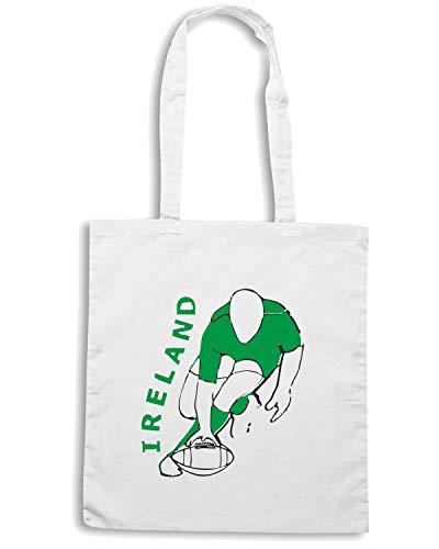 Speed Shirt Borsa Shopper Bianca TRUG0029 IRELAND RUGBY STYLE