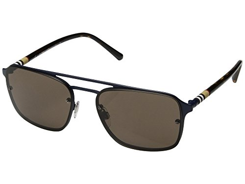 Burberry  Men's 0BE3095 Matte Blue/Havana/Brown One Size by BURBERRY