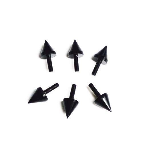 6 x Black WindScreen Windshield Bolts Screws For Suzuki GSXR 600 750 1000 1100 SV650S Yamaha YZF R1 R6 Honda CBR600 F4i 900RR 600RR Kawasaki ZX6R ZX9R ZX10R ZX12R ZX14R JYMotor