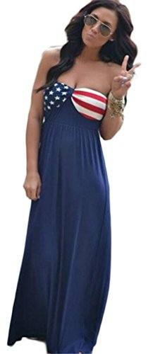 Allonly-Wommens-Sexy-Strapless-American-Flag-Printed-Party-Clubwear-Maxi-Dress