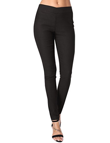 Slimming Twill Pants - DJT Black Pants for Women, Womens Ultra Stretch Comfy Plus Size Skinny Pants Black 2XL