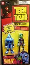 Teen Titans Beast Boy and Thunder 3.5 Action Figure Set by DC (Dc Figures Beast Boy)