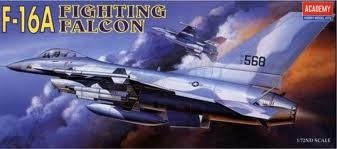 Academy 1/72 F-16a Fighting Falcon # 1620 (Auxilary Tank)