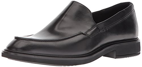 ECCO Men's Vitrus II Slip On Loafer, Black Apron Toe, 41 M EU (7-7.5 ()