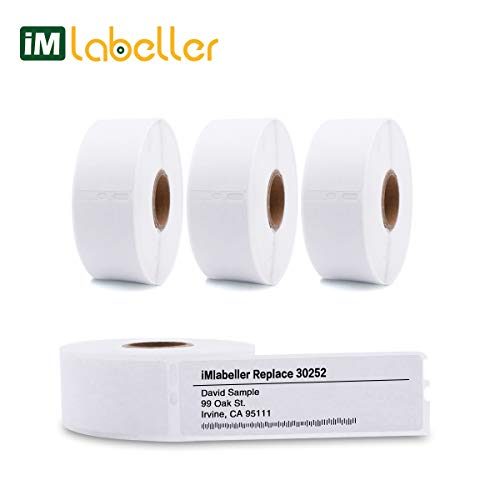 (iMlabeller DYMO 30252 Labels Compatible 1-1/8