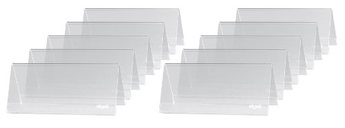 (Sigel TA138 Table-Top Display Frame, tent-form, clear, for 3.74 x 1.65 inches)