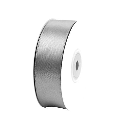 25 Yard Spool VATIN 1 inch Double Face Satin Ribbon White Perfect for Wedding Wreath Baby Shower,Packing and Other Projects.