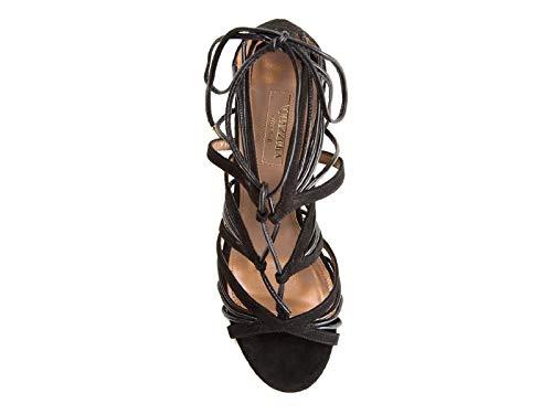 Mujer Zapatos Negro Aquazzura Vehhigs0sun000 Cuero dw4qdZx