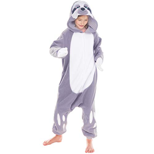Spooktacular Creations Unisex Child Pajama Plush Onesie One Piece Sloth Animal Costume (2-3yr) ()