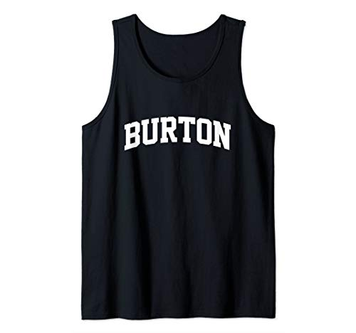 - Burton Name Surname Family First Last Retro Sports Arch Tank Top