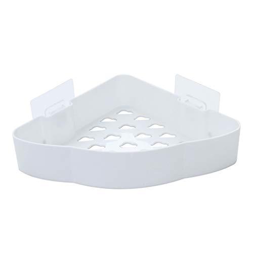 Iulove_Bathroom Products Plastic Bathroom Kitchen Corner Storage Rack Organizer Shower Shelf