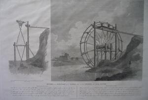 - Section and elevation of a wheel used by the Chinese for Raising Water