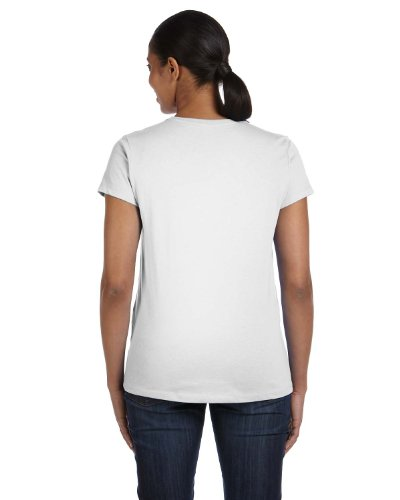 (Hanes Women's Relaxed Fit Jersey ComfortSoft Crewneck T-Shirt_White_M)