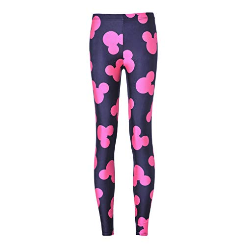 Women's' Spring Autumn Pink Mickey Skinny Pants Black
