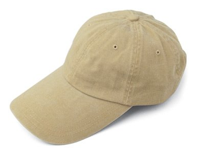 Adams Sunbuster Pigment Dyed Twill Cap With Extra Long Visor (Khaki) (ALL)