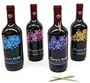 Lote de 20 Palilleros en forma de Botella de Vino (Precio Individual) - Detalles Originales Invitados de Bodas, Regalos Comuniones y Recuerdos para Cumpleaños Infantiles