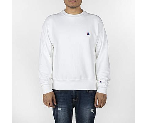 Champion LIFE Men's Reverse Weave Sweatshirt, Oversized Champion Script/White, ()