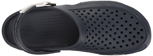 Crocs Heren Swiftwater Deck Clog Marine / Wit