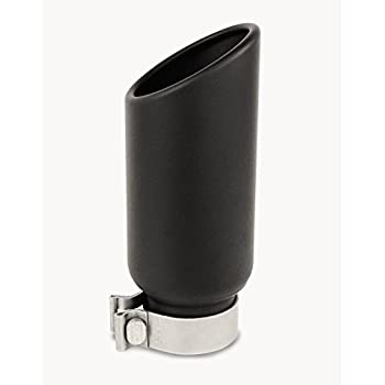 Gibson Performance 500643-B Black Ceramic Rolled Edge Angle Exhaust Tip