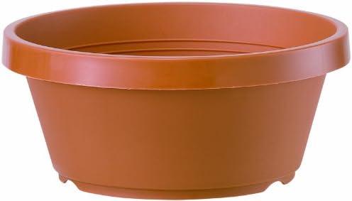 大和プラスチック 五月鉢 7号 φ210×H87 ブラウン(つや消し)