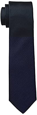 Calvin Klein Men's Pebble Tip Panel Skinny Tie