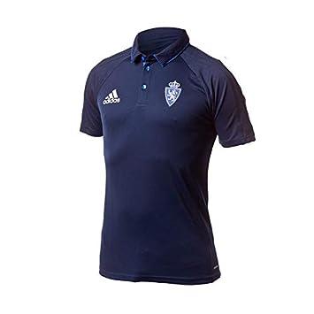 adidas Rz Polo Línea Real Zaragoza, Hombre, Azul (Maruni), XS