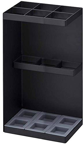 SQ Yamazaki Industrial Umbrella Stand Xuanguan Umbrella Storage Rack 6 Umbrella Storage Umbrella Stand, Black, a