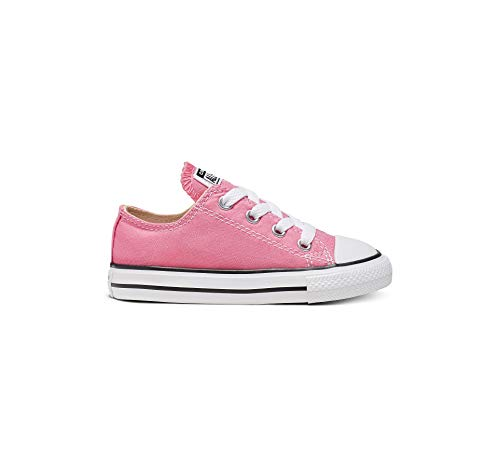 Converse Unisex-Child Chuck Taylor All Star  Low Top Sneaker, Pink, 7 M US Toddler