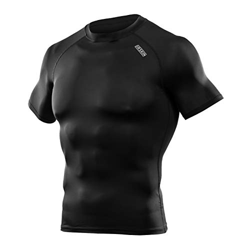 DRSKIN] Compression Tight Short Sleeve Shirt Base Layer Men Women (M, SBBN55)