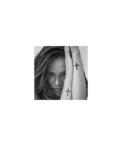 Tatuaje efímero hombre diseño de cruz Gothiques: Amazon.es: Belleza