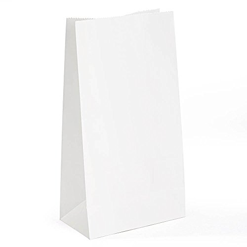 GSSUSA White Paper Bags - White Paper Lunch Bags - Pack of 100 (6 x 4 x 12)