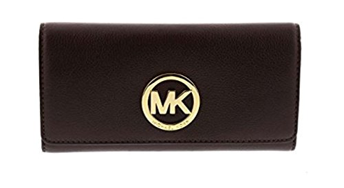 MICHAEL Michael Kors Fulton Leather Carryall Card Holder (Coffee) by MICHAEL Michael Kors