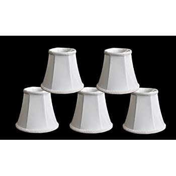 Urbanest Chandelier Lamp Shades, Set of 5, Soft Bell 3x6x5\