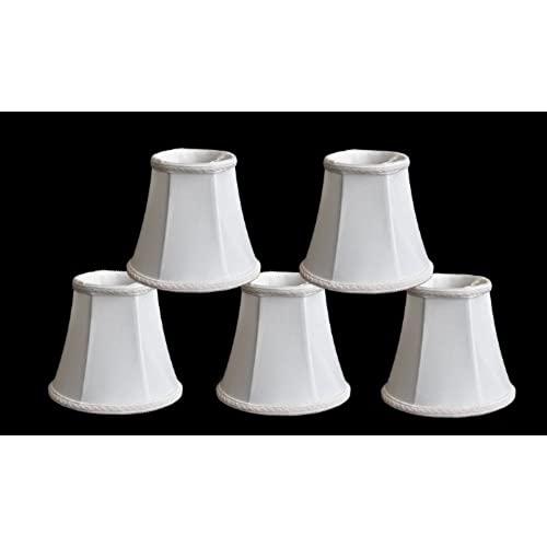 Chandelier shades amazon urbanest 1100465b set of 5 chandelier lamp shades 3x5x45 bell clip on off white aloadofball Gallery