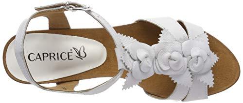 Alto sandali Tacco Blanco Estate Su Caprice 22 Mujer offwhite Tacón Scarpe Femminile 128 me Sandalia 28308 Aperto 78XXFnvq