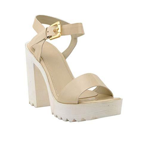 Stepee Sandal for Womens Block Heel Sandal Comfortable High Heel Sandal