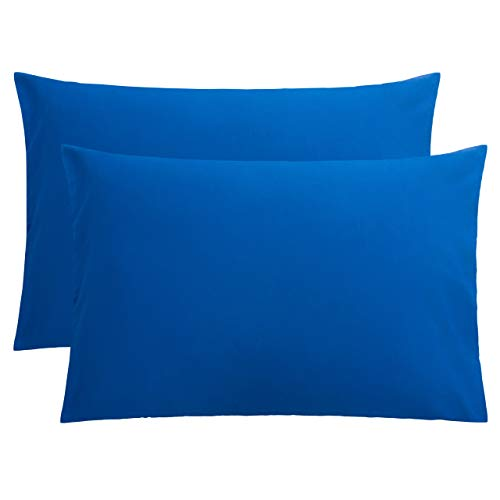 "FLXXIE 2 Pack Microfiber Queen Pillowcases, Envelope Closure, Ultra Soft and Premium Quality, 20"" x 30"" (Royal Blue, Queen)"