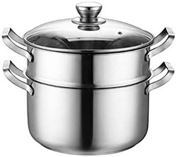 XXDTG Stock Pot Stainless Steel Pot Household Gas Cooking Pot Induction Cooker General Thickening Steamer