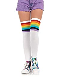 Leg Avenue Women's Over The Rainbow Opaque Thigh High Stockings