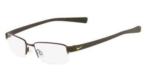211 Eyeglasses - Nike Eyeglasses 8160 211 Shiny Walnut/Cargo Khaki Demo 53 17
