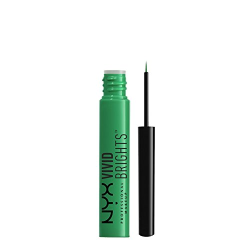 NYX PROFESSIONAL MAKEUP Vivid Brights Liner, Envy, 0.068 Fluid Ounce