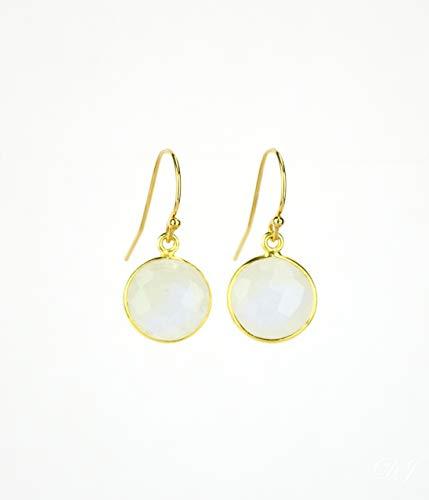 Rainbow Moonstone earrings, June Birthstone Earrings, dangle earrings, bridesmaid earrings gemstone