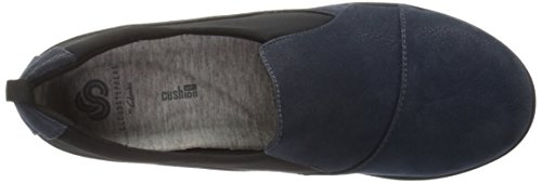 Synthetic Synthetic Sillian US on Nubuck Clarks Slip M Black Nubuck Navy Women's Paz Loafer 6 Tw4qf40