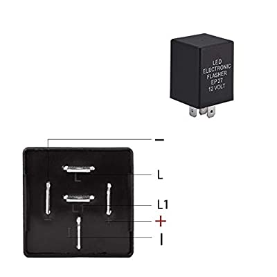 HUIQIAODS 5 Pin EP27 FL27 Electronic LED Flasher Relay for Turn Signal Bulbs Fix Hyper Flash Rapid Blink Issue: Automotive