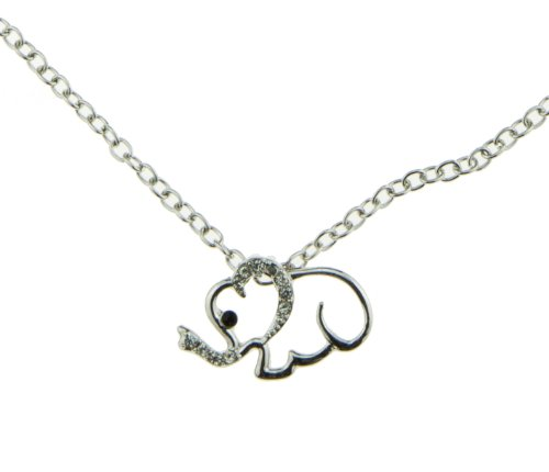 Best Iced Out Paved Elephant Pendant Charm Necklace Zoo Circus Animal Womens Girls Childrens Jewelry