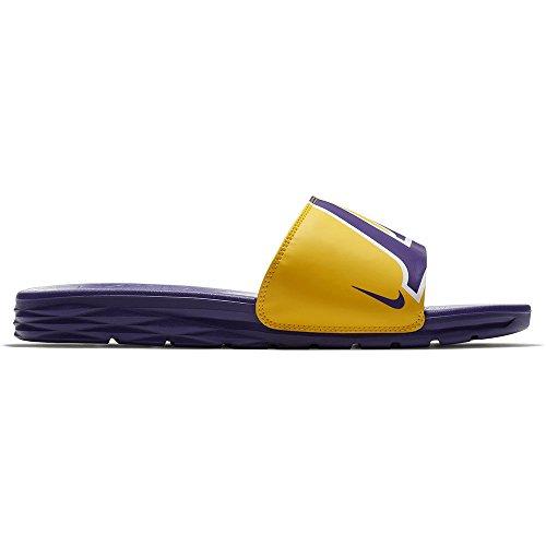 Nike Mens Benassi Solarsoft Nba, Amarillo / Veld Paarse Amarillo / Veld Paars