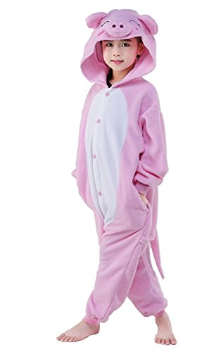 Famycos Kids Adults One-Piece Costumes Pyjamas for School Party Performance (6, Pig) ()