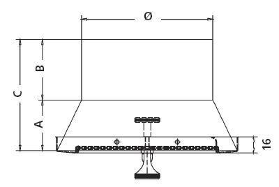 /ø 130 mm KG Edelstahl UPMANN GmbH /& Co Rietberg Zugbegrenzer mit rundem Anschlussstutzen